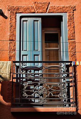 Photograph - Balcony France  by Chuck Kuhn