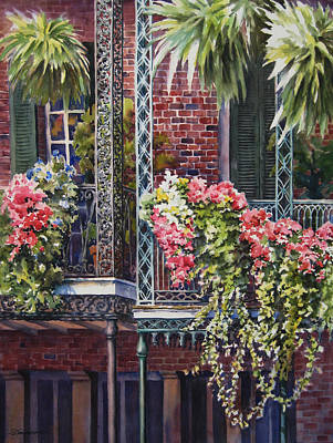 Balcony Gardens Art Print by Sue Zimmermann