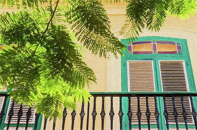Photograph - Balcony In Havana by Rob Huntley