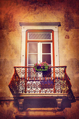 Vintage Style Photograph - Balcony In Lisbon  by Carol Japp