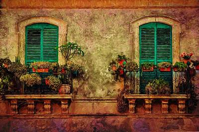 Painting - Balcony In Venice  by Louis Ferreira