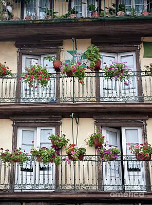 Historic Architecture Photograph - Balcony Of Guimaraeres by Jim Chamberlain