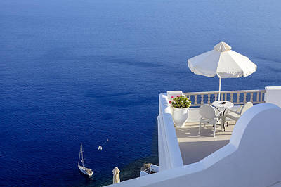 Santorini Photograph - Balcony Over The Sea by Joana Kruse