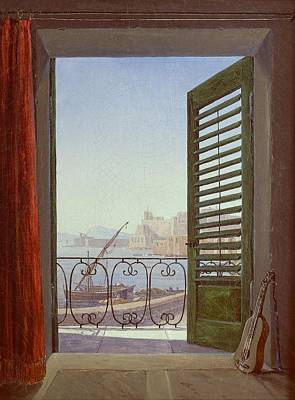 Balcony Room With A View Of The Bay Of Naples Art Print