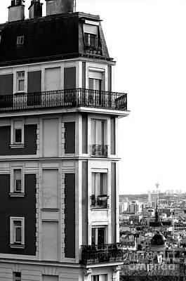 Balcony View In Montmartre Art Print