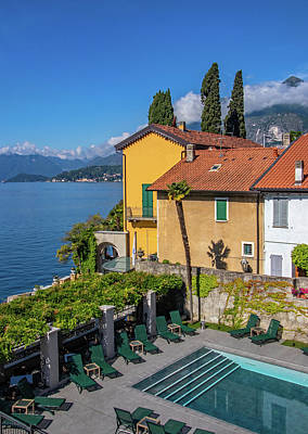 Photograph - Balcony View Of Lake Como by Carolyn Derstine
