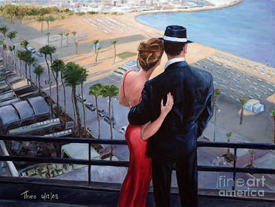 Forties Painting - Balcony With A View by Theo Michael