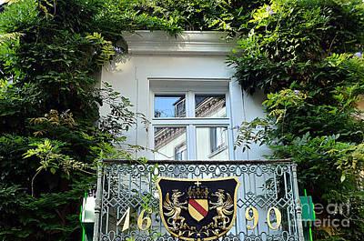 Balcony With Family Crest, Baden-baden Original by Elzbieta Fazel