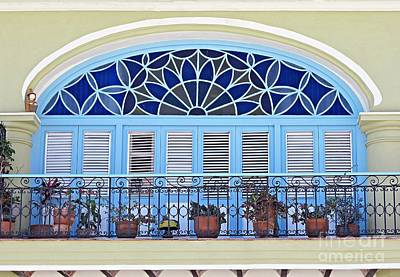 Photograph - Balcony With Flowerpots by Ethna Gillespie