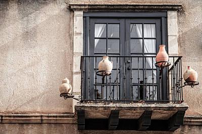 Balcony With Pitchers Art Print by Alexey Stiop