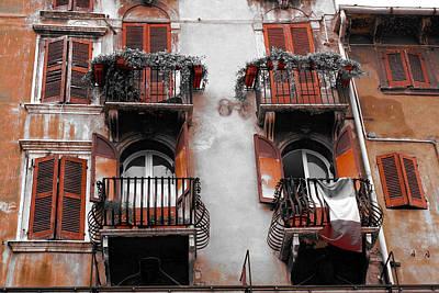 Photograph - Balcony's Of Verona by Greg Sharpe