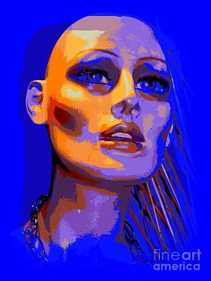 Digital Art - Bald And Bold In Blue by Ed Weidman
