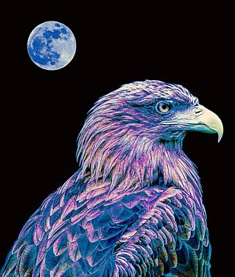 Eagle Painting - Bald Eagle  2 by Celestial Images