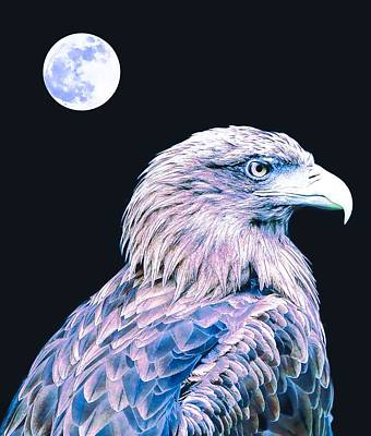 Song Painting - Bald Eagle 3 by Celestial Images
