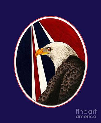 Bald Eagle T-shirt Art Print by Herb Strobino