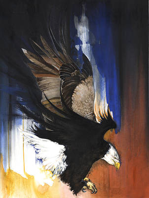 Mixed Media - Bald Eagle II by Anthony Burks Sr