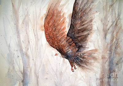 Painting - Bald Eagle In Flight by Rebecca Davis