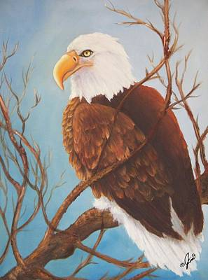 Painting - Bald Eagle by Joni McPherson