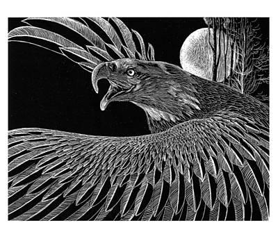 Raptor Drawing - Bald Eagle by Kean Butterfield