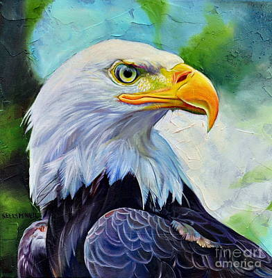 Painting - Bald Eagle by Kelly McNeil