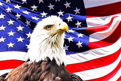 4th July Digital Art - Bald Eagle by Michelle Murphy