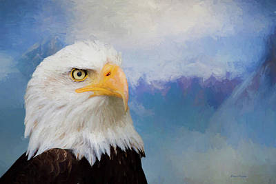 Photograph - Bald Eagle-painted by Ericamaxine Price