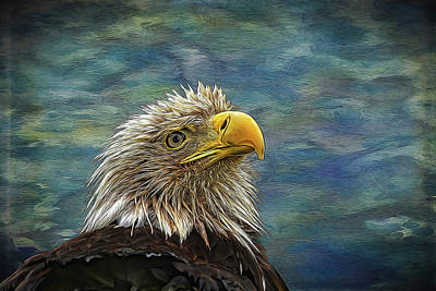 Photograph - Bald Eagle Painted by Judy Vincent