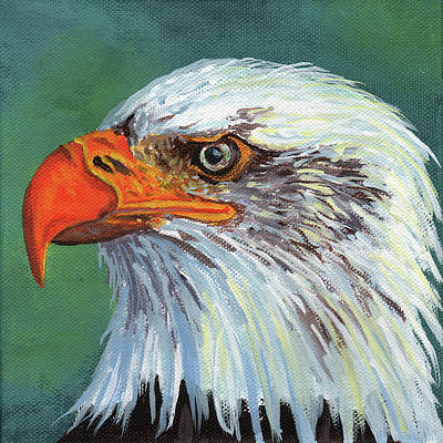 Painting - Bald Eagle by Timithy L Gordon