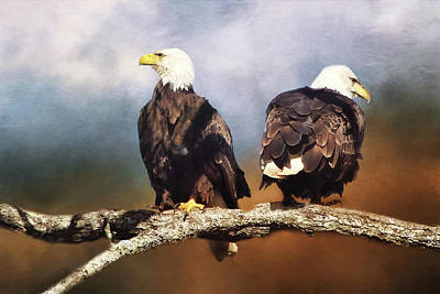 Digital Art - Bald Eagle Watchmen   by TnBackroadsPhotos