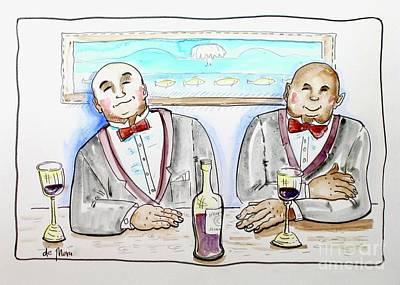 Bald Gentlemen's Club Art Print