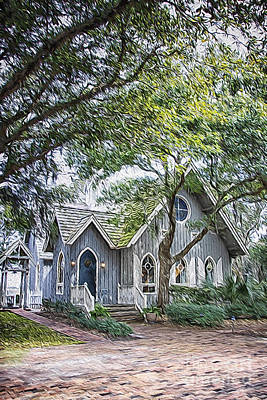 Digital Art - Bald Head Island Chapel by Georgianne Giese