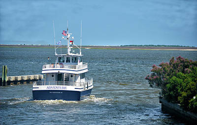 Photograph - Bald Head Island Nc Ferry by Sandi OReilly