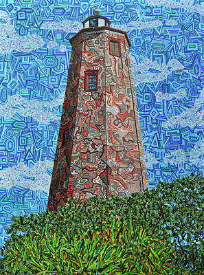 Painting - Bald Head Island, Old Baldy Lighthouse by Micah Mullen