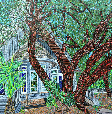 Painting - Bald Head Island, Village Chapel by Micah Mullen