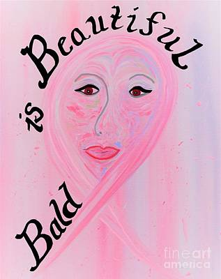 Eyes Painting - Bald Is Beautiful by Eloise Schneider