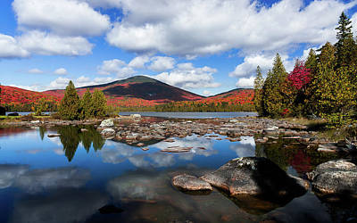 Photograph - Bald Mountain Fall Reflection by Tim Kirchoff
