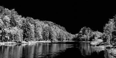Photograph - Bald Mountain Pond Panorama Bw by David Patterson
