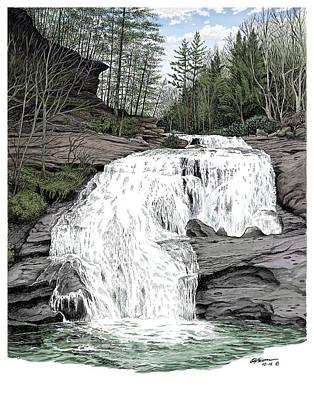 Bald River Falls Art Print by Dave Olson