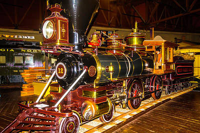 Old West Photograph - Baldwin Locomotive No. 12 by Garry Gay