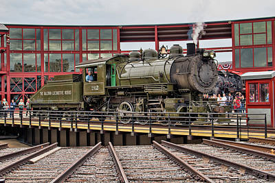 Photograph - Baldwin Locomotive On The Turntable by Kristia Adams