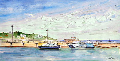 Lighthouse Drawing - Balearia Ferries In Ibiza by Miki De Goodaboom