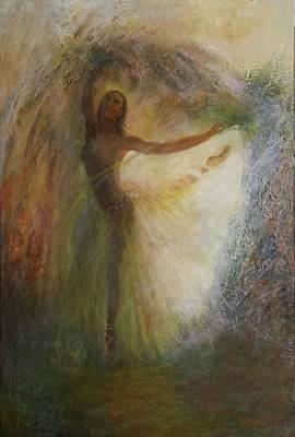 Painting - Ballet Dancer's Silhouette by Sylva Zalmanson