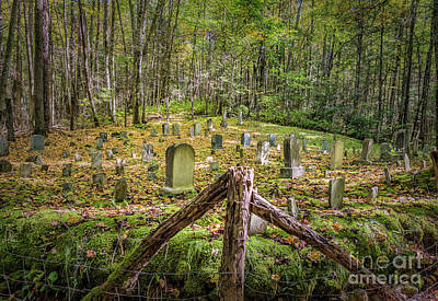 Photograph - Bales Cemetery by Patrick Shupert