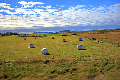 Photograph - Bales Of Hay For The Animals Near Reykjavik, Iceland by Allan Levin
