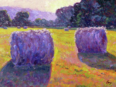 Hay Bales Painting - Bales Of Hay by Michael Camp