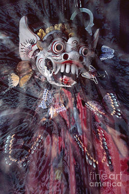 Photograph - Bali Dance Theater Mask - Barong II by Sharon Hudson