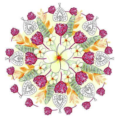 Digital Art - Bali Inspired Mandala I by Louise Gale