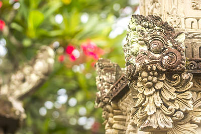 Sunrise Photograph - Bali Sculpture by Jijo George