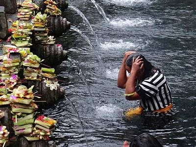 Exploramum Photograph - Bali Temple Fountain Cleansing by Exploramum Exploramum