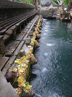 Exploramum Photograph - Bali Temple Offerings by Exploramum Exploramum